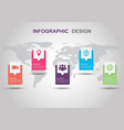 infographic design template with shadow vector image vector image