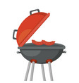 isolated barbecue grill design vector image vector image