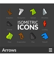 Isometric outline icons set 48 vector image vector image