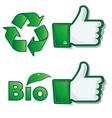 like eco bio vector image