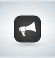 loudspeaker icon black app button with shadow vector image vector image