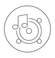 Loudspeakers with music note line icon vector image vector image
