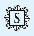 luxury crest decorative logo vector image vector image