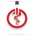 medicine caduceus sign vector image