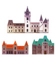 medieval castles with towers and turrets vector image