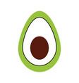 mexican food avocado fresh traditional vector image