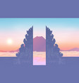 morning sky with mountain and traditional balinese vector image vector image