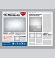 newspaper design headline journal template vector image