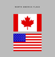 North america flags vector image vector image