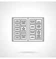 Notice board flat line icon vector image vector image