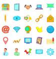 Nummary icons set cartoon style
