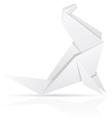origami paper sea calf vector image vector image