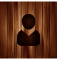 Person icon Wooden background vector image