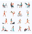 Physical Activity Icons vector image vector image