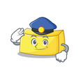 police butter character cartoon style vector image vector image