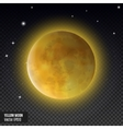 Realistic detailed full blue moon isolated on vector image vector image