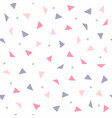 repeating triangles and dots geometric seamless vector image vector image