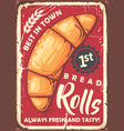 rolls poster sign design in retro style vector image vector image