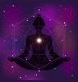 sacred geometry zen vector image