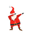 santa claus father frost christmas dancing dab vector image