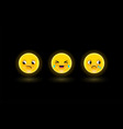 set emoticons or emoji 3d vector image