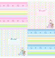 set of cute seamless pattern for newborn vector image vector image