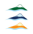 set of high mountains vector image vector image