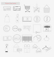 shop set style line icons on white vector image vector image