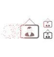 shredded pixel halftone man portrait icon vector image vector image