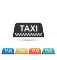 taxi car roof sign icon on white background vector image