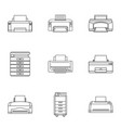 technical specialist icons set outline style vector image