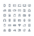 thin line icons set with digital and vector image vector image