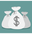 Three bags with dollar sign Icon vector image vector image
