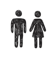 toilet people icon vector image vector image