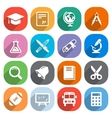 Trendy Flat education icons elements vector image vector image