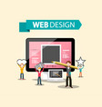 web design dtp concept with creative graphic vector image