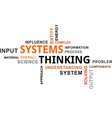 word cloud systems thinking vector image vector image
