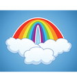 rainbow arc and clouds vector image