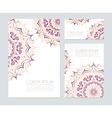Business cards with floral ornaments vector image