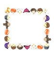Children faces frame vector image