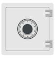 Metal safe icon vector image