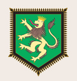 Heraldic lion crest vector image