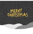 Merry Christmas postcard Christmas typography vector image