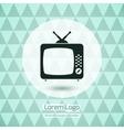 TV icon logo vector image