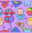 doodle of baby style collection vector image