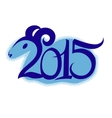 2015 new year symbol of the year vector image