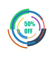 50 off abstraction technology vector image vector image