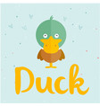 animal duck cartoon duck background image vector image