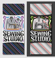 banners for sewing studio vector image