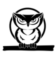 Black and white owl vector image